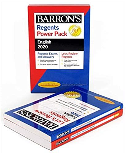 Regents English Power Pack 2020 (Barron's Regents NY ...